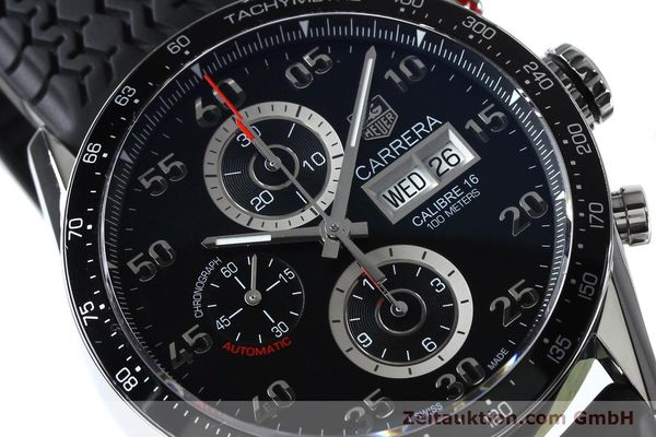 Used luxury watch Tag Heuer Carrera chronograph steel automatic Kal. 16 ETA 7750 Ref. CV2A10-0  | 152005 02