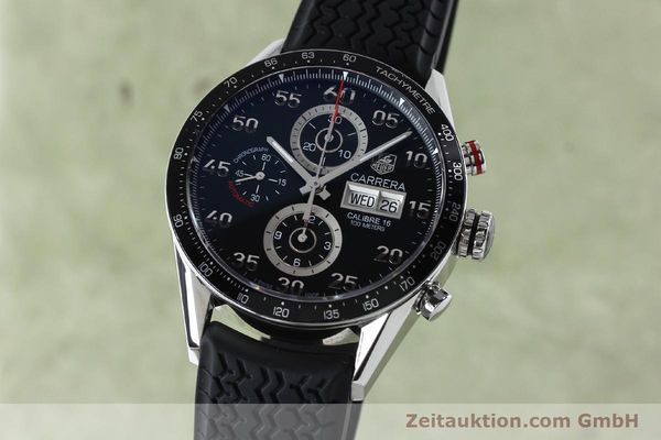 Used luxury watch Tag Heuer Carrera chronograph steel automatic Kal. 16 ETA 7750 Ref. CV2A10-0  | 152005 04