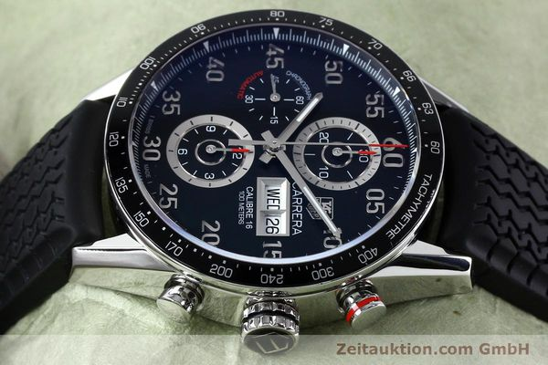 Used luxury watch Tag Heuer Carrera chronograph steel automatic Kal. 16 ETA 7750 Ref. CV2A10-0  | 152005 05
