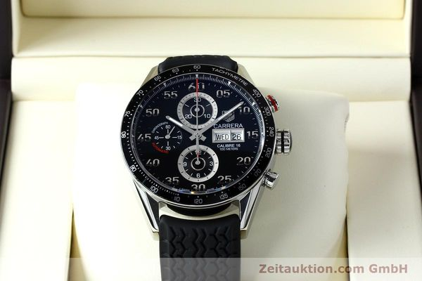 Used luxury watch Tag Heuer Carrera chronograph steel automatic Kal. 16 ETA 7750 Ref. CV2A10-0  | 152005 07