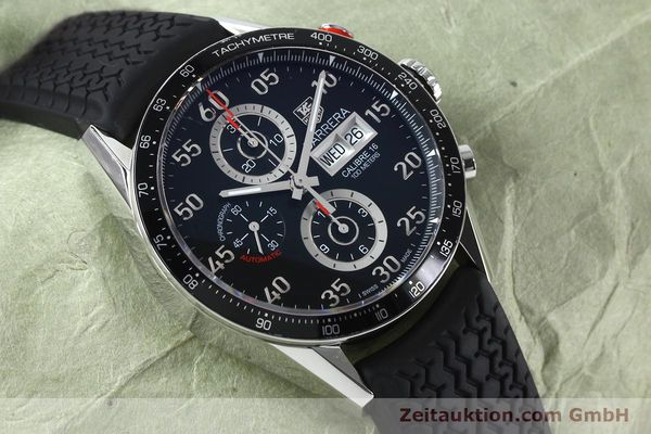 Used luxury watch Tag Heuer Carrera chronograph steel automatic Kal. 16 ETA 7750 Ref. CV2A10-0  | 152005 15