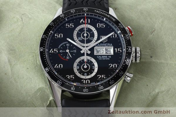 Used luxury watch Tag Heuer Carrera chronograph steel automatic Kal. 16 ETA 7750 Ref. CV2A10-0  | 152005 16