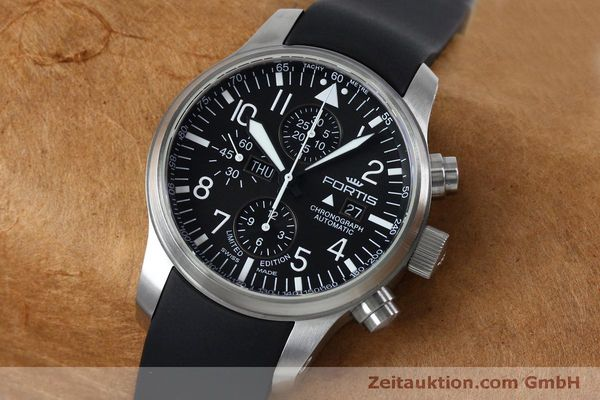 Used luxury watch Fortis F-43 chronograph steel automatic Kal. ETA 7750 Ref. 701.10.41 LIMITED EDITION | 152009 01