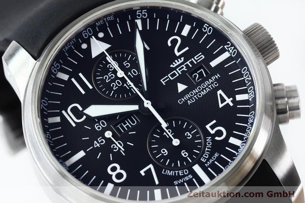 Used luxury watch Fortis F-43 chronograph steel automatic Kal. ETA 7750 Ref. 701.10.41 LIMITED EDITION | 152009 02