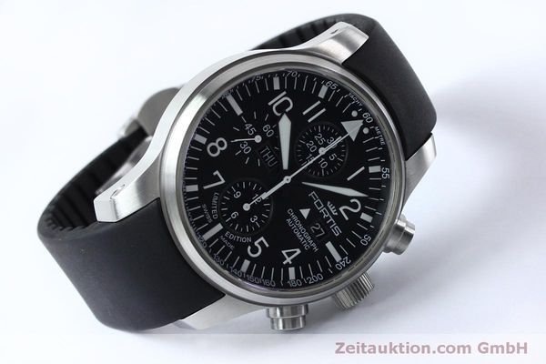 Used luxury watch Fortis F-43 chronograph steel automatic Kal. ETA 7750 Ref. 701.10.41 LIMITED EDITION | 152009 03
