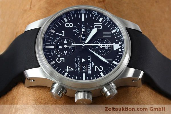 Used luxury watch Fortis F-43 chronograph steel automatic Kal. ETA 7750 Ref. 701.10.41 LIMITED EDITION | 152009 05