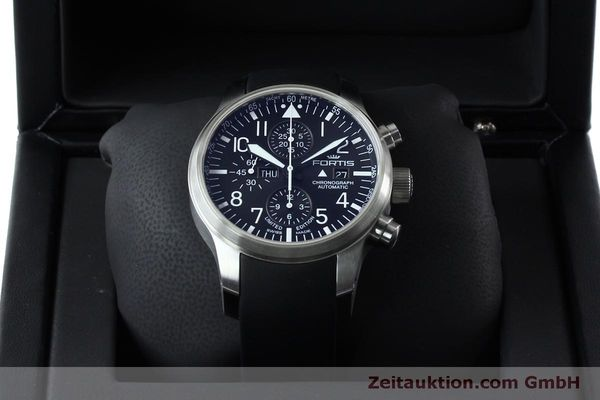 Used luxury watch Fortis F-43 chronograph steel automatic Kal. ETA 7750 Ref. 701.10.41 LIMITED EDITION | 152009 07