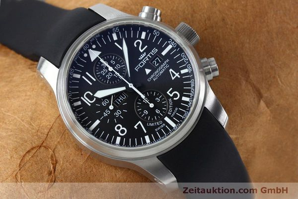 Used luxury watch Fortis F-43 chronograph steel automatic Kal. ETA 7750 Ref. 701.10.41 LIMITED EDITION | 152009 15