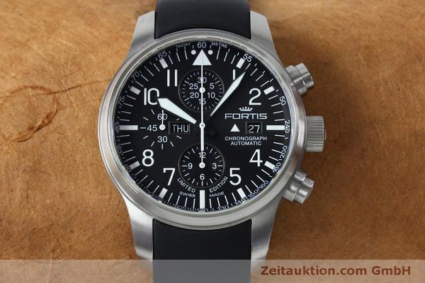 Used luxury watch Fortis F-43 chronograph steel automatic Kal. ETA 7750 Ref. 701.10.41 LIMITED EDITION | 152009 16