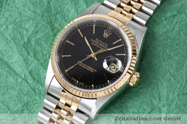 Used luxury watch Rolex Datejust steel / gold automatic Kal. 3135 Ref. 16233  | 152017 01
