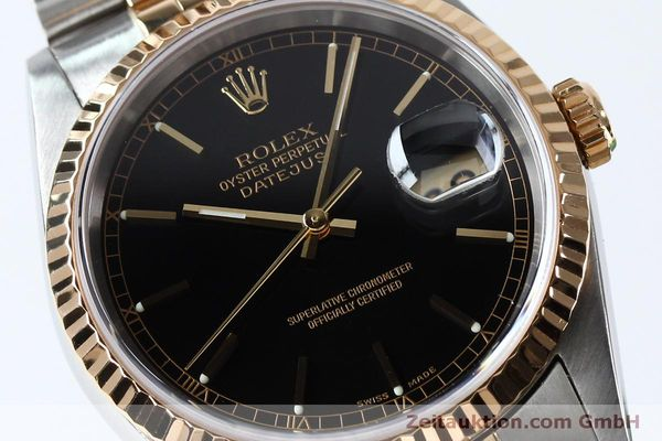 Used luxury watch Rolex Datejust steel / gold automatic Kal. 3135 Ref. 16233  | 152017 02