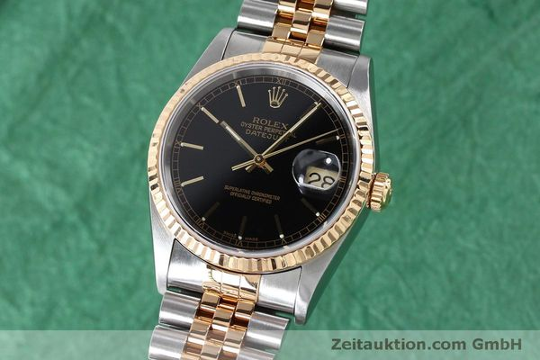 Used luxury watch Rolex Datejust steel / gold automatic Kal. 3135 Ref. 16233  | 152017 04
