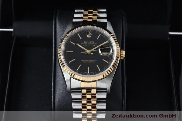 Used luxury watch Rolex Datejust steel / gold automatic Kal. 3135 Ref. 16233  | 152017 07