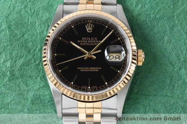 Used luxury watch Rolex Datejust steel / gold automatic Kal. 3135 Ref. 16233  | 152017 16