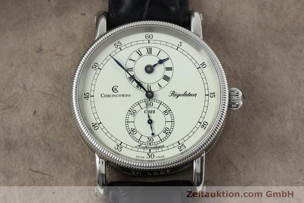 montre de luxe d occasion Chronoswiss Regulateur acier automatique Kal. 122 Ref. CH1223  | 152028 14