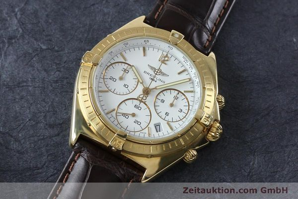 Used luxury watch Breitling Sextant chronograph 18 ct gold quartz Kal. 1270 Ref. 80350K55045  | 152032 01