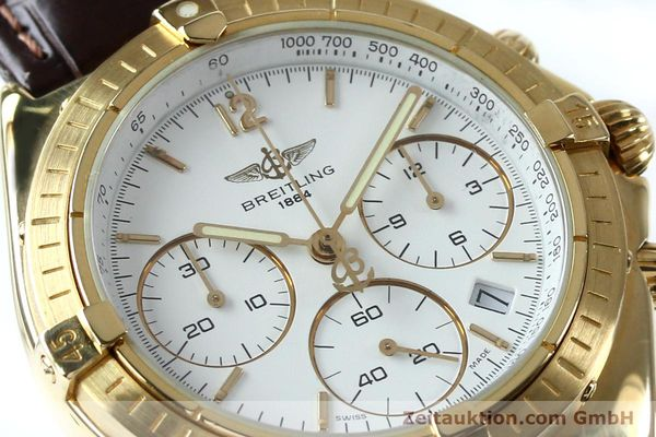 Used luxury watch Breitling Sextant chronograph 18 ct gold quartz Kal. 1270 Ref. 80350K55045  | 152032 02
