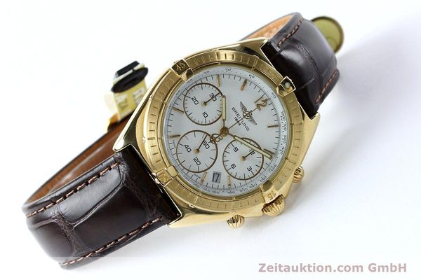 Used luxury watch Breitling Sextant chronograph 18 ct gold quartz Kal. 1270 Ref. 80350K55045  | 152032 03
