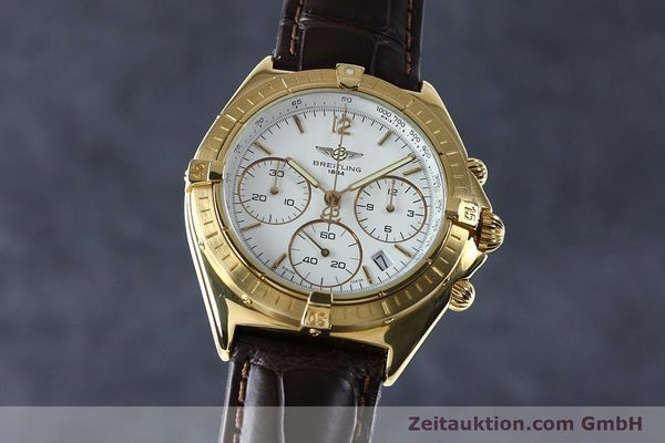 Used luxury watch Breitling Sextant chronograph 18 ct gold quartz Kal. 1270 Ref. 80350K55045  | 152032 04