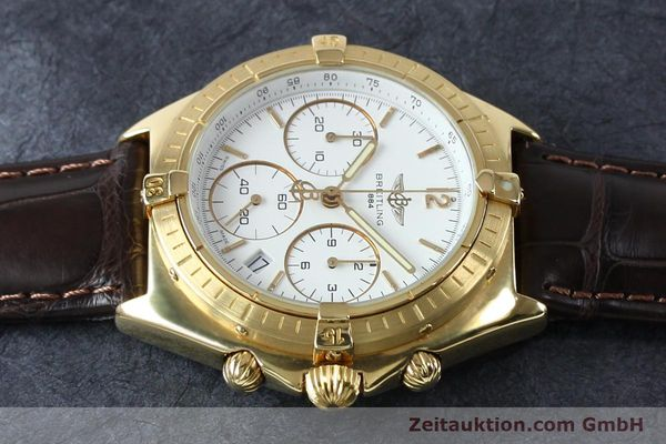 Used luxury watch Breitling Sextant chronograph 18 ct gold quartz Kal. 1270 Ref. 80350K55045  | 152032 05