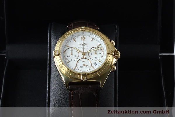 Used luxury watch Breitling Sextant chronograph 18 ct gold quartz Kal. 1270 Ref. 80350K55045  | 152032 07
