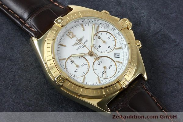 Used luxury watch Breitling Sextant chronograph 18 ct gold quartz Kal. 1270 Ref. 80350K55045  | 152032 12
