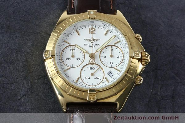 Used luxury watch Breitling Sextant chronograph 18 ct gold quartz Kal. 1270 Ref. 80350K55045  | 152032 13