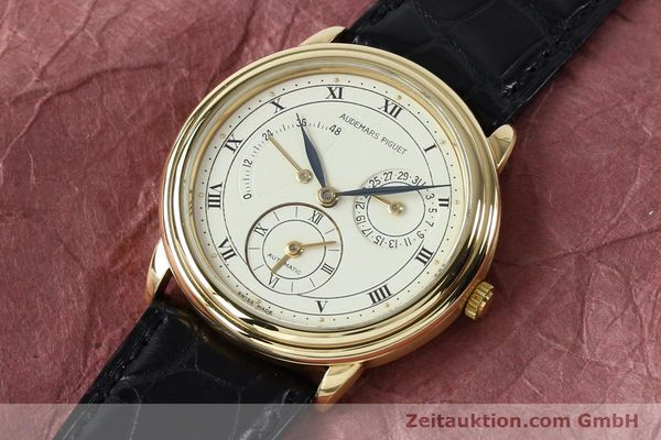 Used luxury watch Audemars Piguet Dual Time 18 ct gold automatic Kal. 2129  | 152034 01