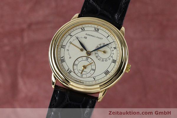 Used luxury watch Audemars Piguet Dual Time 18 ct gold automatic Kal. 2129  | 152034 04