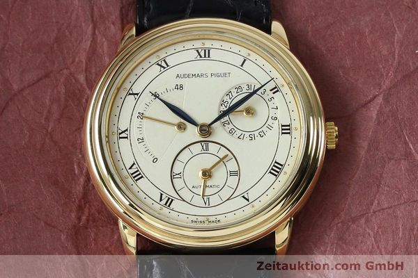 Used luxury watch Audemars Piguet Dual Time 18 ct gold automatic Kal. 2129  | 152034 13