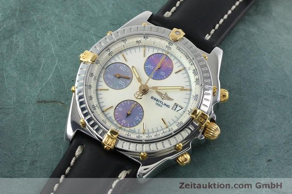 Used luxury watch Breitling Chronomat chronograph steel / gold automatic Kal. B13 ETA 7750 Ref. B13050  | 152040 01