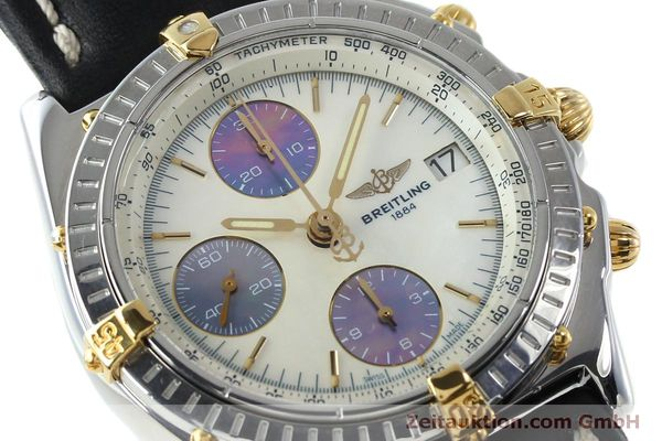 Used luxury watch Breitling Chronomat chronograph steel / gold automatic Kal. B13 ETA 7750 Ref. B13050  | 152040 02