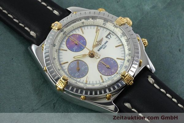 Used luxury watch Breitling Chronomat chronograph steel / gold automatic Kal. B13 ETA 7750 Ref. B13050  | 152040 14
