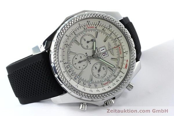 Used luxury watch Breitling Bentley chronograph steel automatic Kal. B44 ETA 2892A2 Ref. A44362  | 152042 03