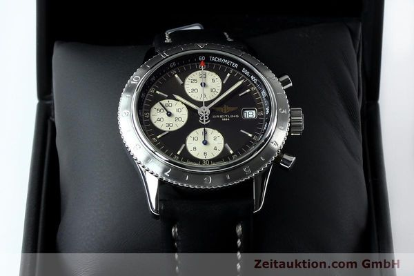 Used luxury watch Breitling Navitimer chronograph steel automatic Kal. B13 ETA 7750 Ref. A13023.1  | 152043 07