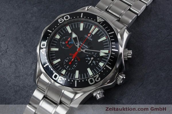 Used luxury watch Omega Seamaster chronograph steel automatic Kal. 3602 Ref. 25695000  | 152045 01