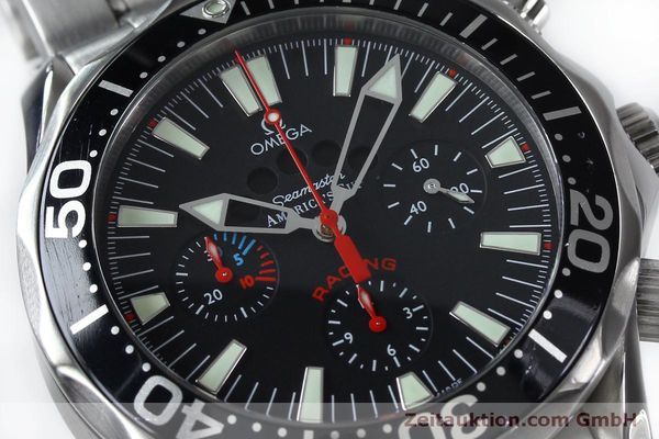 Used luxury watch Omega Seamaster chronograph steel automatic Kal. 3602 Ref. 25695000  | 152045 02