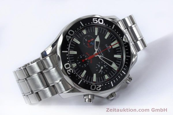 Used luxury watch Omega Seamaster chronograph steel automatic Kal. 3602 Ref. 25695000  | 152045 03