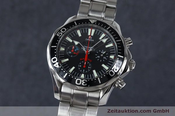 Used luxury watch Omega Seamaster chronograph steel automatic Kal. 3602 Ref. 25695000  | 152045 04