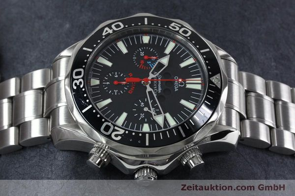 Used luxury watch Omega Seamaster chronograph steel automatic Kal. 3602 Ref. 25695000  | 152045 05