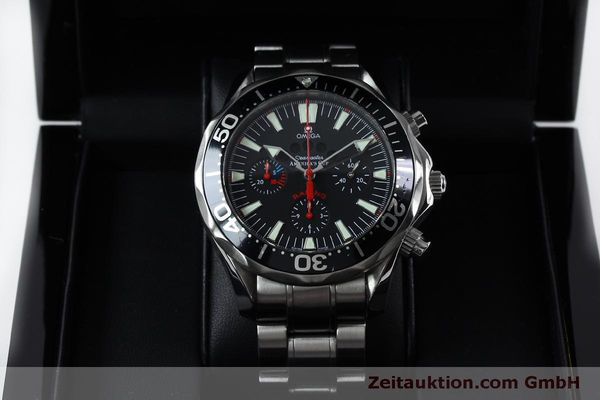 Used luxury watch Omega Seamaster chronograph steel automatic Kal. 3602 Ref. 25695000  | 152045 07