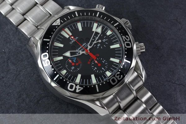 Used luxury watch Omega Seamaster chronograph steel automatic Kal. 3602 Ref. 25695000  | 152045 16