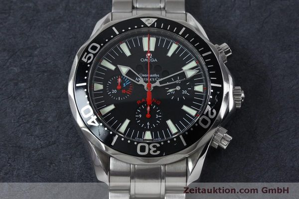 Used luxury watch Omega Seamaster chronograph steel automatic Kal. 3602 Ref. 25695000  | 152045 17