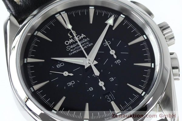 Used luxury watch Omega Seamaster chronograph steel automatic Kal. 3301A  | 152047 02