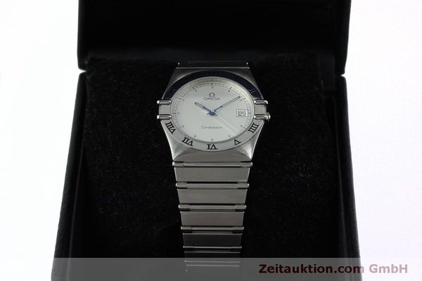 montre de luxe d occasion Omega Constellation acier quartz Kal. 1438 Eta 255461  | 152048 07