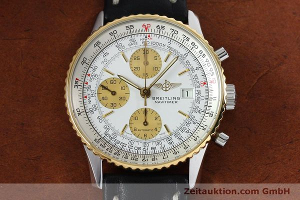 Used luxury watch Breitling Navitimer chronograph steel / gold automatic Kal. B13 ETA 7750 Ref. B13019  | 152052 14