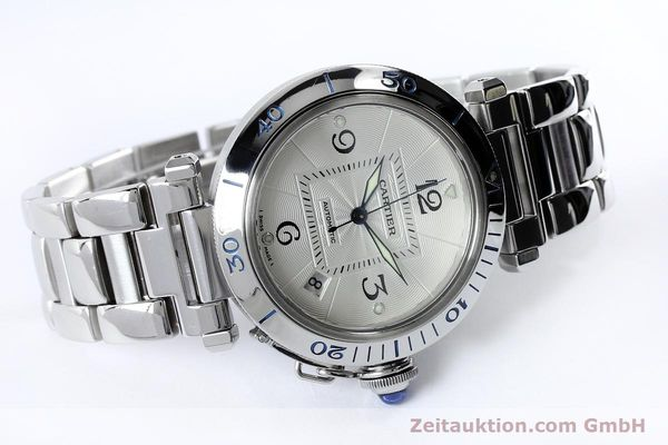 Used luxury watch Cartier Pasha steel automatic Kal. 191  | 152064 03