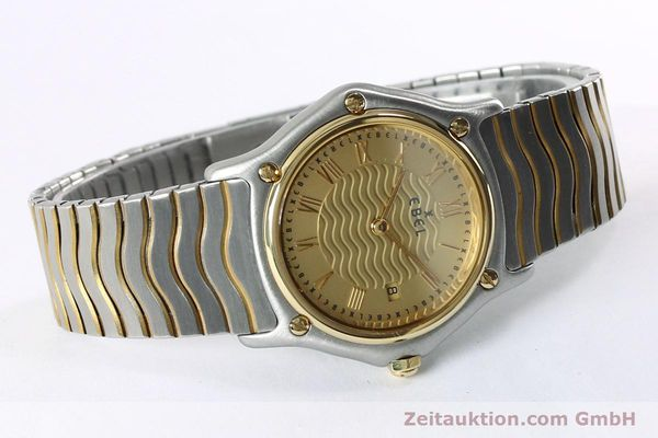 Used luxury watch Ebel Classic Wave steel / gold quartz Kal. 88 Ref. 1088131  | 152069 03