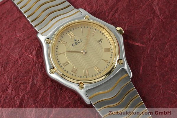 Used luxury watch Ebel Classic Wave steel / gold quartz Kal. 88 Ref. 1088131  | 152069 12