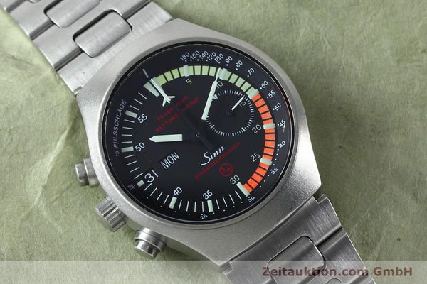 Used luxury watch Sinn EZM4 chronograph steel automatic Kal. 5100 Ref. 157.13090  | 152075 14